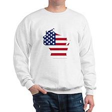Wisconsin American Flag Sweatshirt