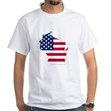 Wisconsin American Flag T-Shirt