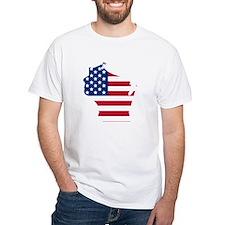 Wisconsin American Flag T-Shirt