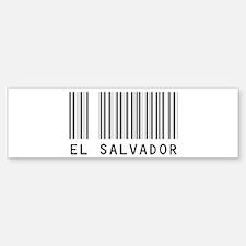 EL SALVADOR Barcode Bumper Bumper Bumper Sticker