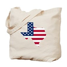 Texas American Flag Tote Bag