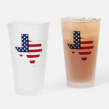 Texas American Flag Drinking Glass