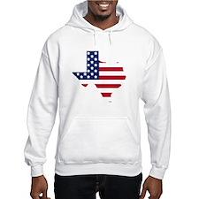Texas American Flag Hoodie