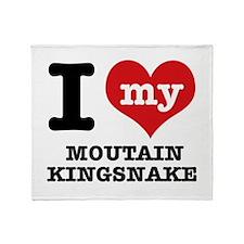 I love my mountain kingsnake Throw Blanket