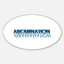 Abomination = Obamanation Decal