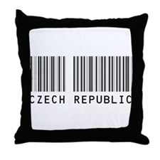 CZECH REPUBLIC Barcode Throw Pillow