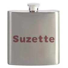 Suzette Santa Fur Flask
