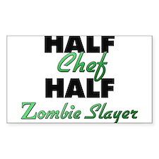 Half Chef Half Zombie Slayer Decal