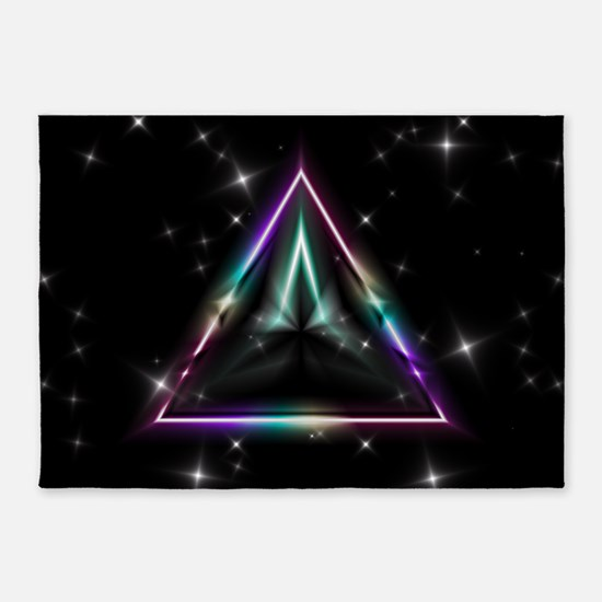 Mystic Prisms - Pyramid - 5'x7'Area Rug