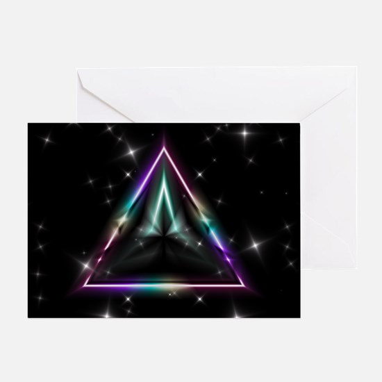 Mystic Prisms - Pyramid - Greeting Card