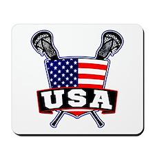Team USA Lacrosse Logo Mousepad