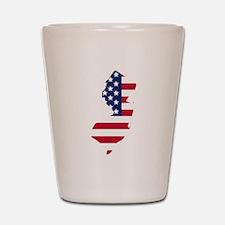 New Jersey American Flag Shot Glass