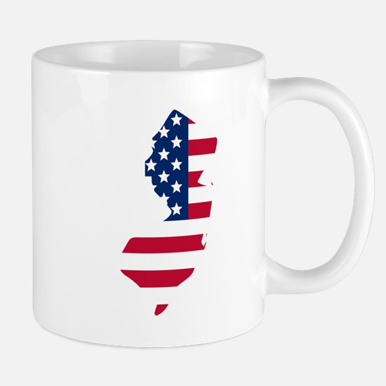 New Jersey American Flag Mugs