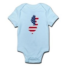 New Jersey American Flag Body Suit