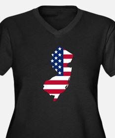 New Jersey American Flag Plus Size T-Shirt