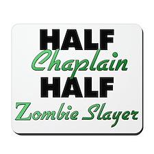 Half Chaplain Half Zombie Slayer Mousepad