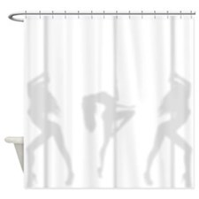 Pole Dancers Silhouette Shadow Shower Curtain