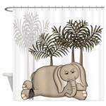 Cute Baby Elephant Shower Curtain
