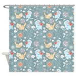 Funky Cats 3 Shower Curtain