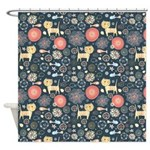 Funky Cats and Fish Shower Curtain