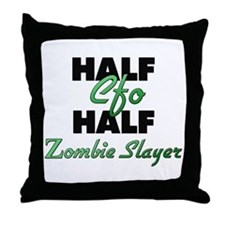 Half Cfo Half Zombie Slayer Throw Pillow