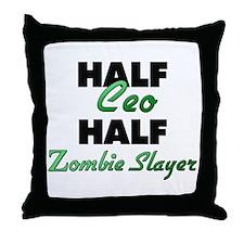 Half Ceo Half Zombie Slayer Throw Pillow