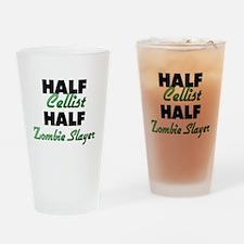 Half Cellist Half Zombie Slayer Drinking Glass