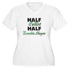 Half Cellist Half Zombie Slayer Plus Size T-Shirt
