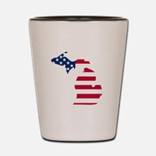 Michigan American Flag Shot Glass
