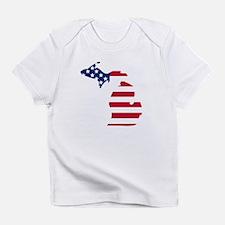 Michigan American Flag Infant T-Shirt