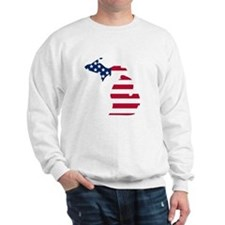 Michigan American Flag Sweatshirt