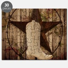 cute western cowgirl Puzzle