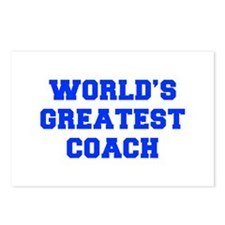 WORLDS-GREATEST-COACH-FRESH-BLUE Postcards (Packag