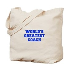 WORLDS-GREATEST-COACH-FRESH-BLUE Tote Bag