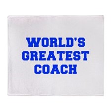 WORLDS-GREATEST-COACH-FRESH-BLUE Throw Blanket