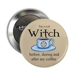 Coffee Witch Button