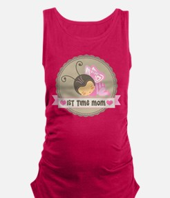 1st Time Mom Baby Girl Maternity Tank Top