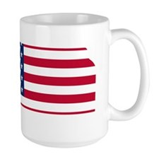 Kansas American Flag Mugs