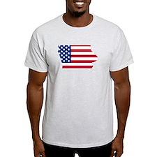 Iowa American Flag T-Shirt