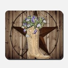 cute western cowgirl Mousepad