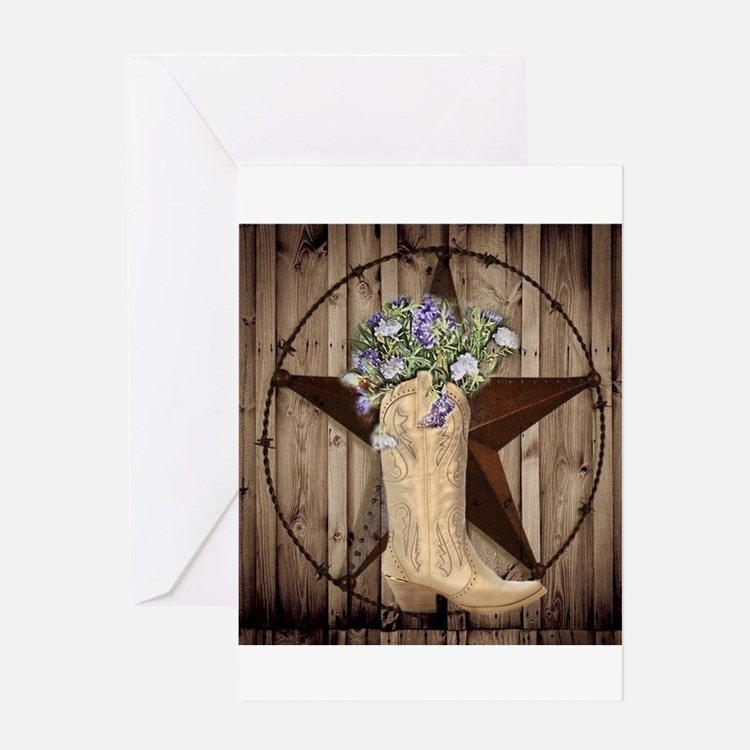 cute western cowgirl Greeting Cards