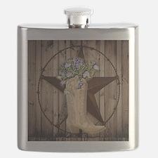 cute western cowgirl Flask