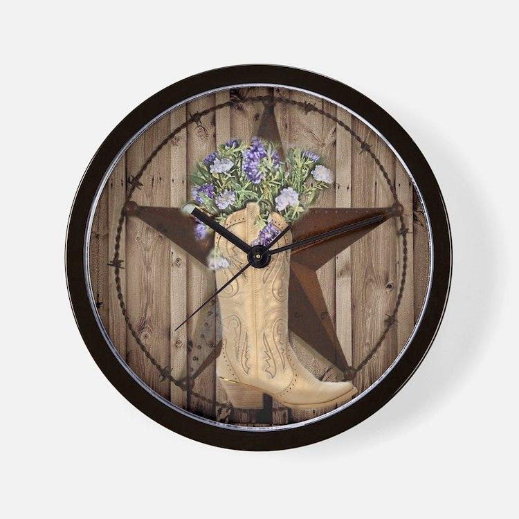 Cute Western Cowgirl Wall Clock