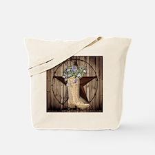 cute western cowgirl Tote Bag