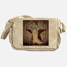cute western cowgirl Messenger Bag
