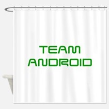 TEAM-ANDROID-SAVED-GREEN Shower Curtain