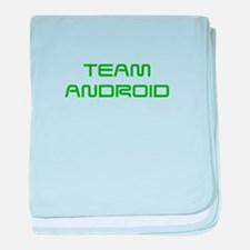 TEAM-ANDROID-SAVED-GREEN baby blanket