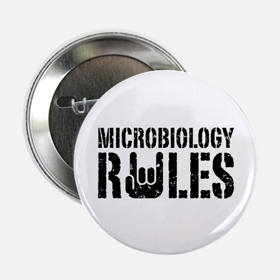 "Microbiology Rules 2.25"" Button"