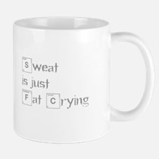 sweat-is-just-fat-crying-break-gray Mugs
