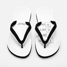correcting-grammar-break-gray Flip Flops